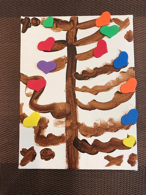 Heart Tree Canvas