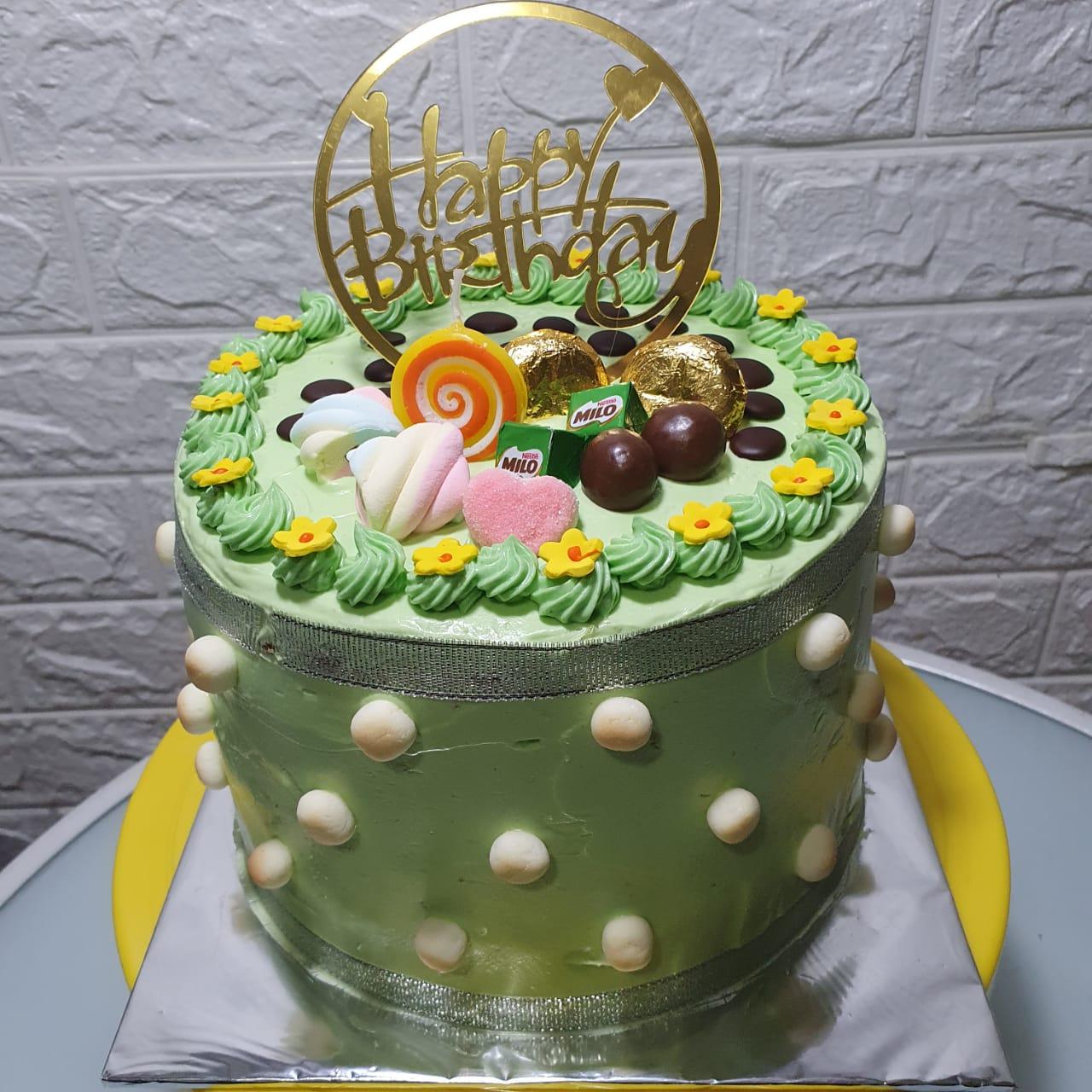 klepon cake 3 layer