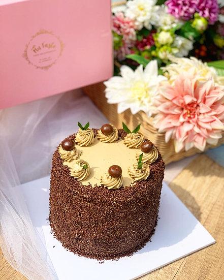 pandan cokelat cake