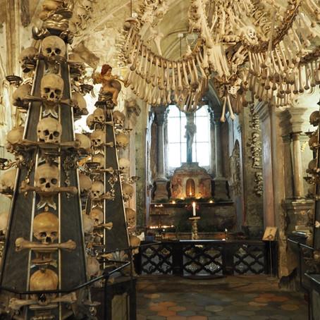 A garland of human skulls