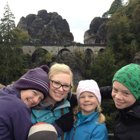 Finding treasure on the Bastei Bridge