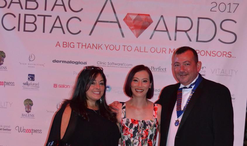 CIBTAC Chairman, Lesley Blair and Jason Phillip