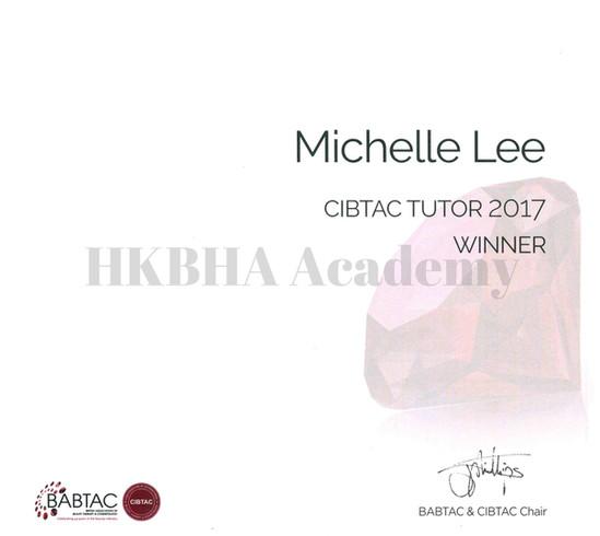 Michelle Lee - Tutor of the Year 2017 Winner