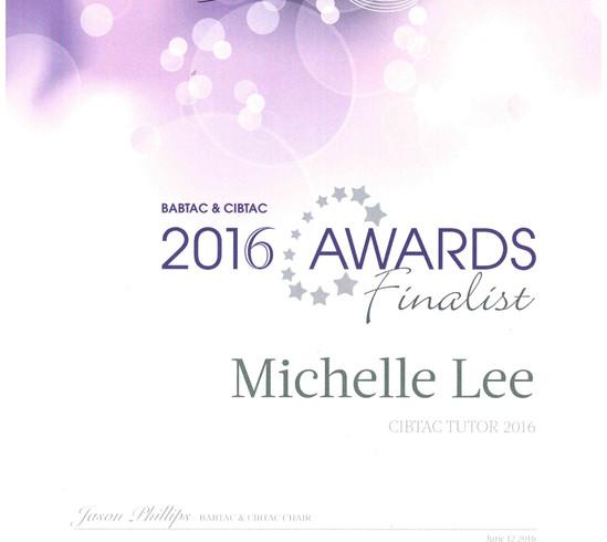 Michelle Lee - CIBTAC Tutor of the Year Finalist 2016