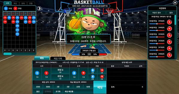벳이스트 농구미니게임