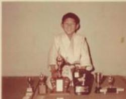 Sensei Mitchell trophies