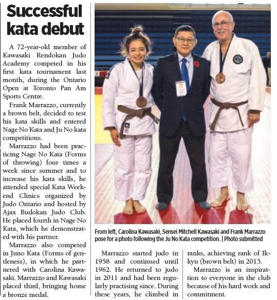Frank Mazzarro, Successul Kata Debut, Kawasaki Rendokan Judo Academy