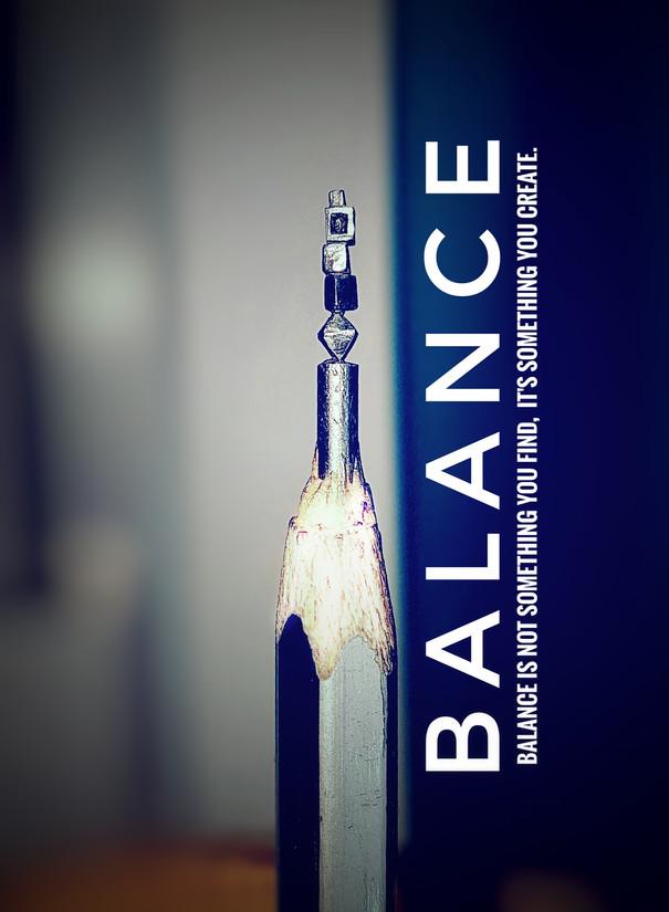 Balance -MINIATURE ART GIFT ON PENCIL LEAD