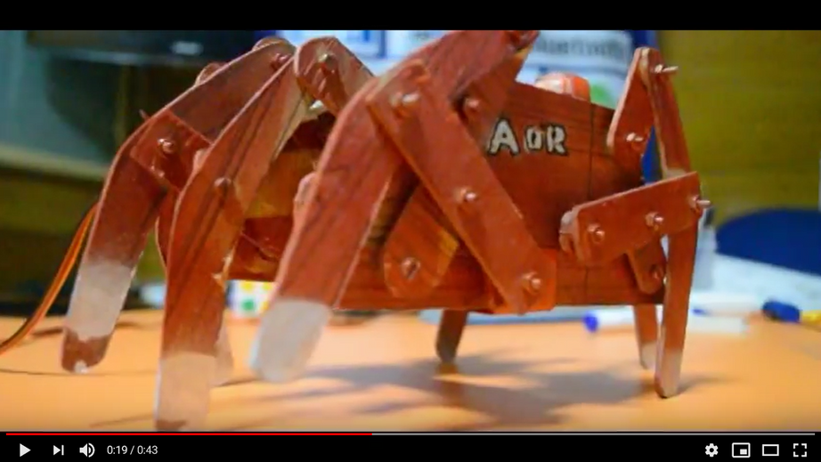 crabot spider robot with 8 legs