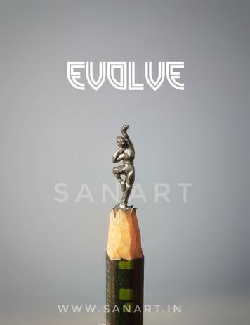EVOLVE -MINIATURE ART GIFT ON PENCIL LEAD
