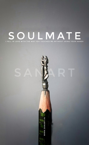 Soulmate- MINIATURE ART GIFT ON PENCIL LEAD