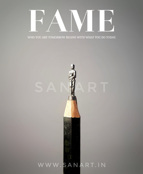 FAME  -MINIATURE ART GIFT ON PENCIL LEAD