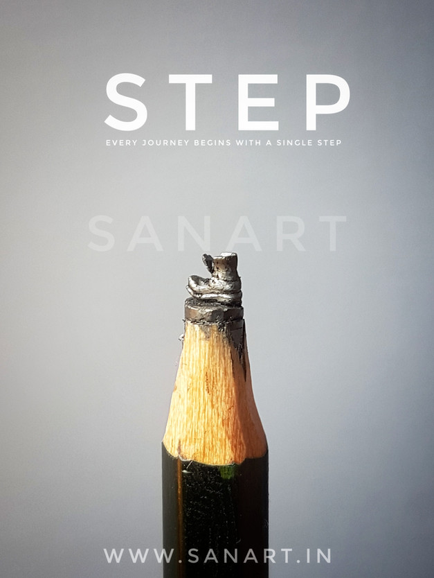 STEP   --miniature carving gift art on pencil lead