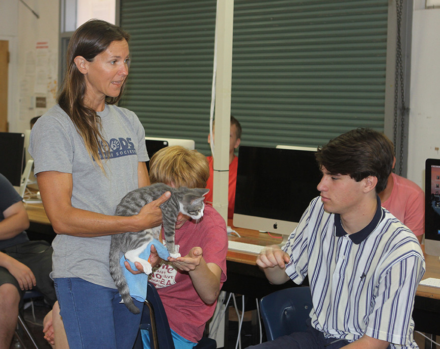 AHS Video Production classes visited by Woods Humane Society
