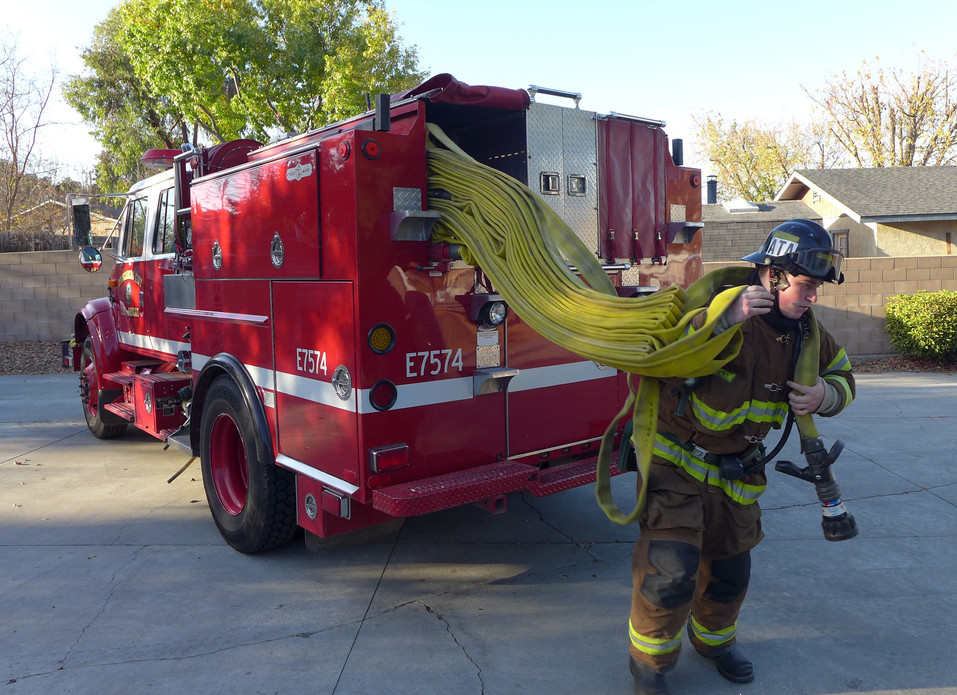 High school students can train as firefighters through Fire Cadet Program