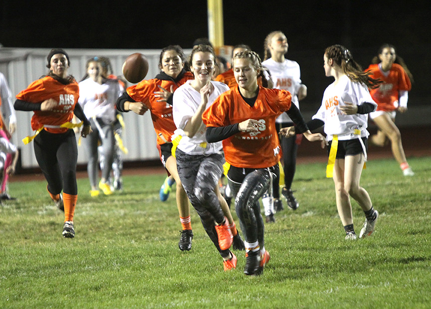 Junior and Senior girls take the field for 2019 powderpuff game