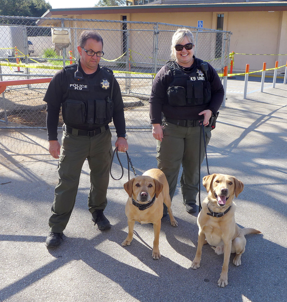 Atascadero State Hospital drug dogs search AHS campus