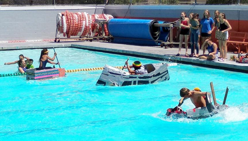 Water polo teams begin season with boat race and alumni matchup