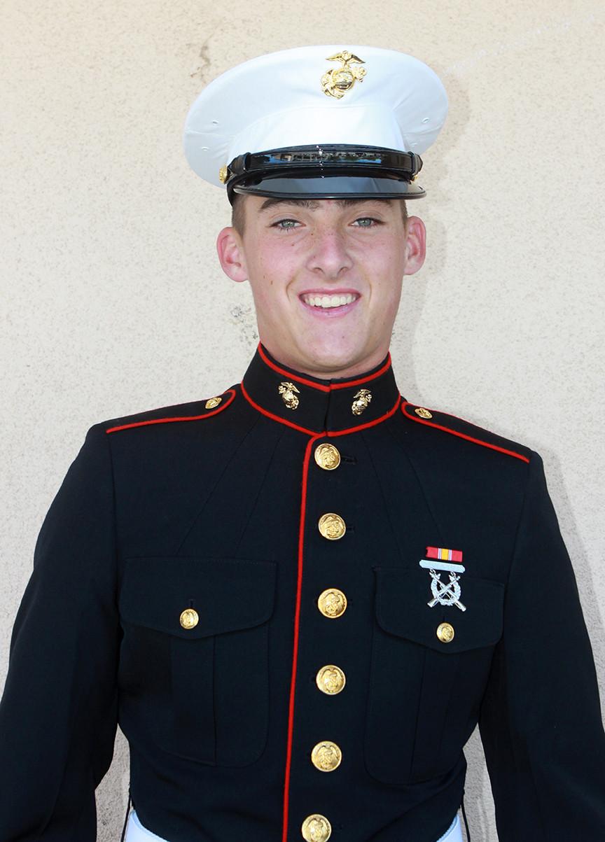 Greyhound Alum Graduates from U.S. Marine Boot Camp