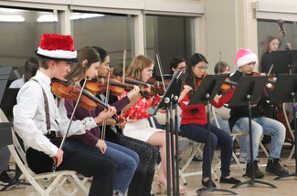 AHS students participate at several citywide events to ring in the holidays