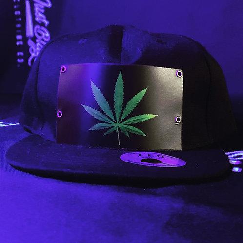 Just Blazed: LED Weed Leaf Hat