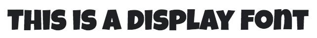 display font
