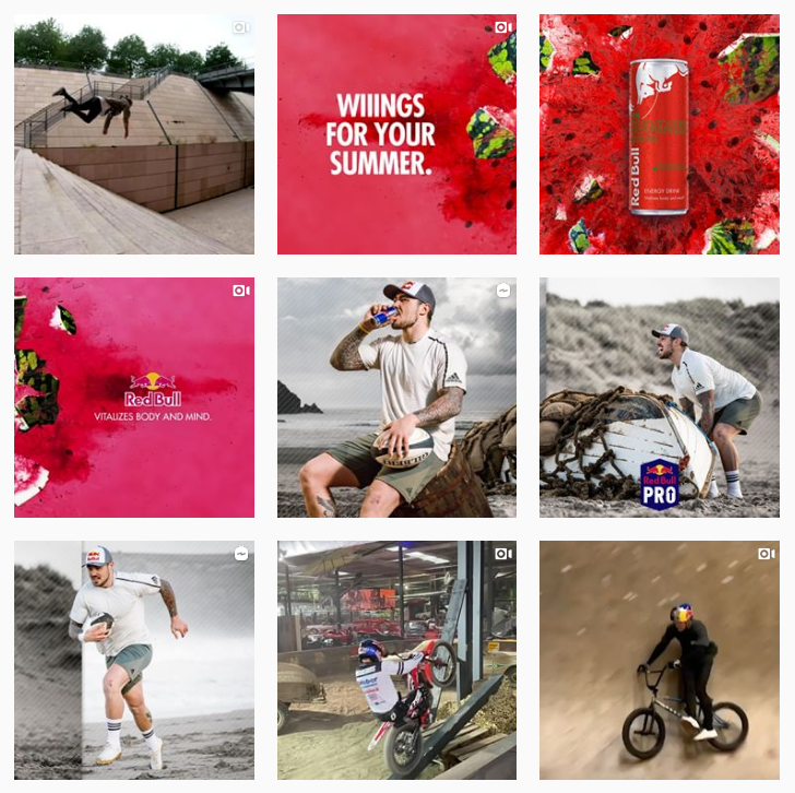 redbull brand on instagram