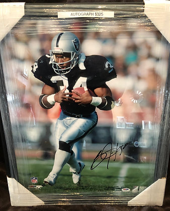 Bo Jackson Raiders signed 16x20 PSA/DNA certified