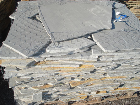 SHADY BLUE FLAGSTONE AND SLABS