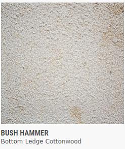 BUSH HAMMER Bottom Ledge COTTONWOOD
