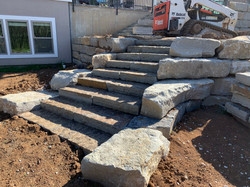 "3' Blue Brown Steps & 14"" Native Ledge Random"