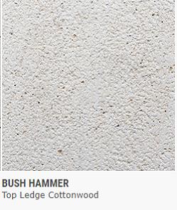 BUSH HAMMER TOP LEDGE COTTONWOOD