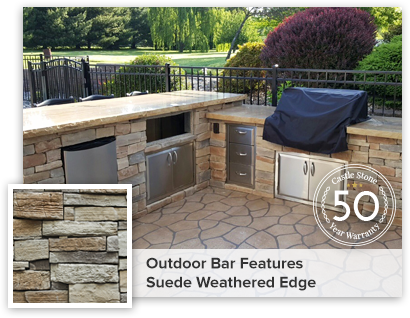SUEDE  OUTDOOR BAR GRILL