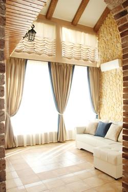 Пошив штор с кантом