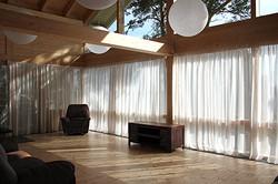 Пошив штор из льняной ткани