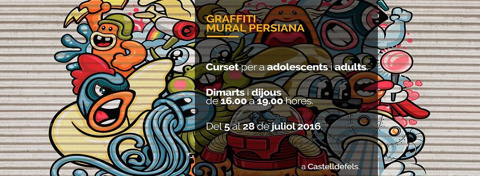Graffiti mural persiana