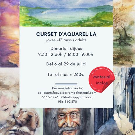 Curset d'aquarel·la Castelldefels