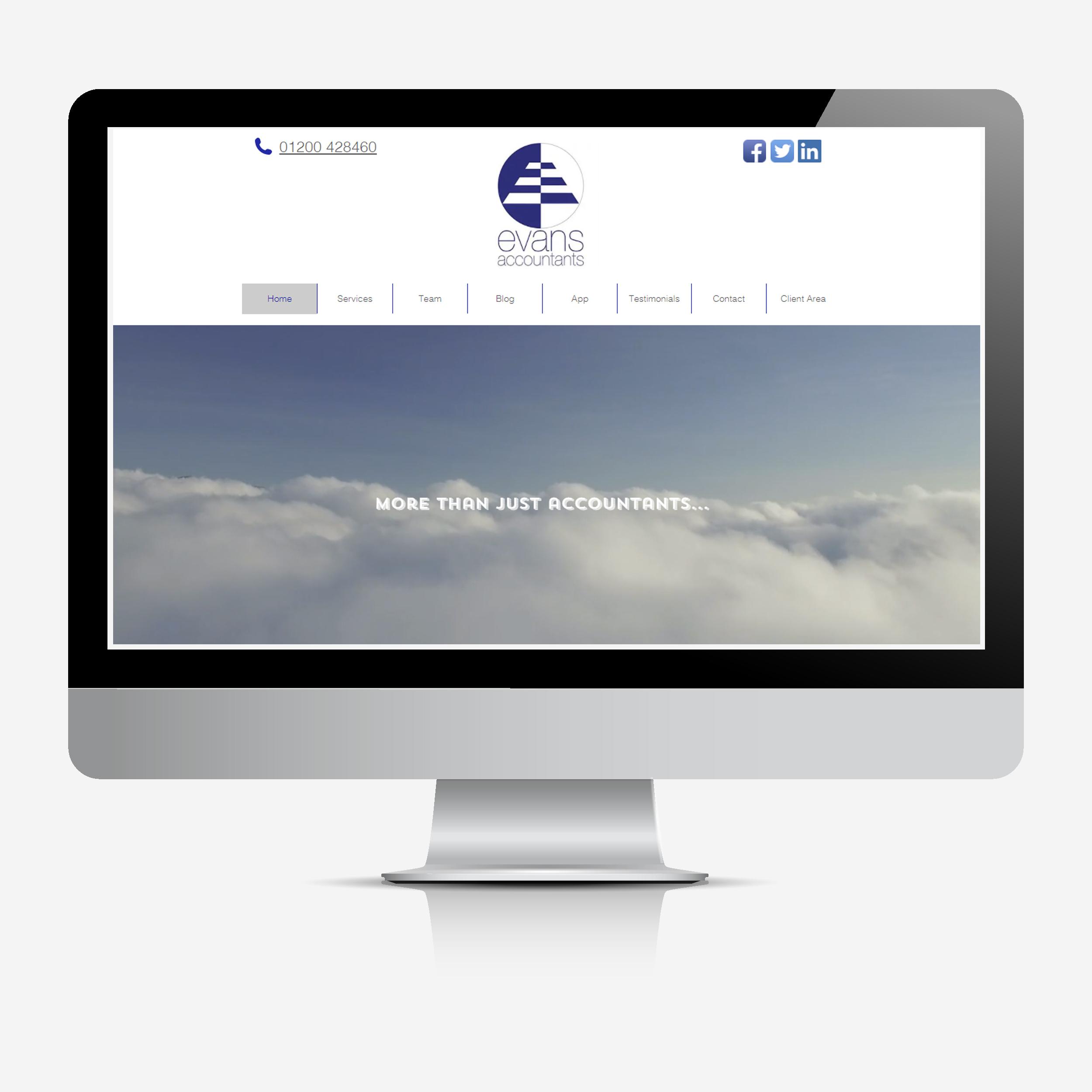 EA website mock-up
