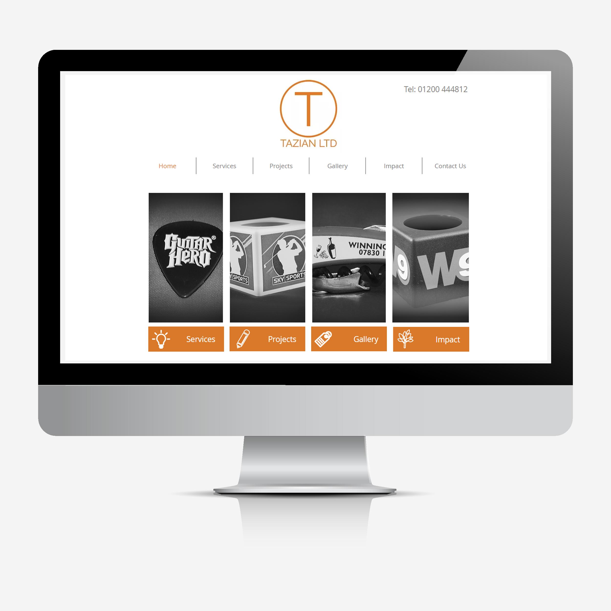 Tazian website mock up
