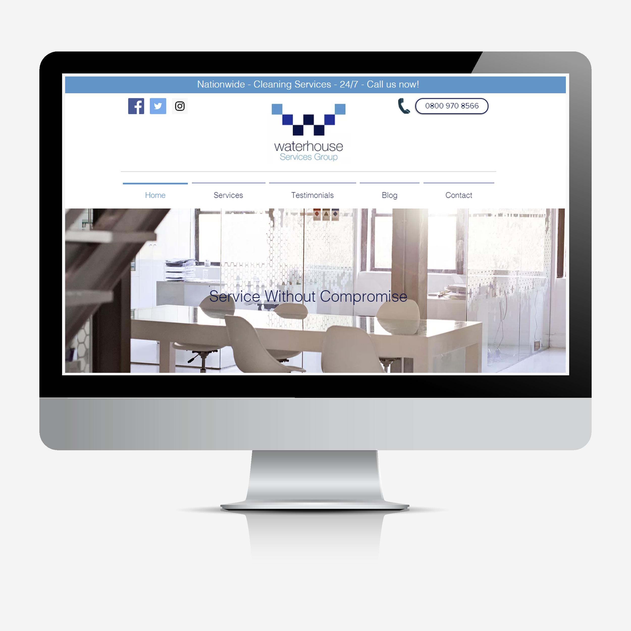 Waterhouse website mock-up