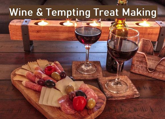 French Wine Tasting & Tempting Treat Making