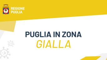 """COVID - La Puglia è in """"zona gialla rinforzata"""""""