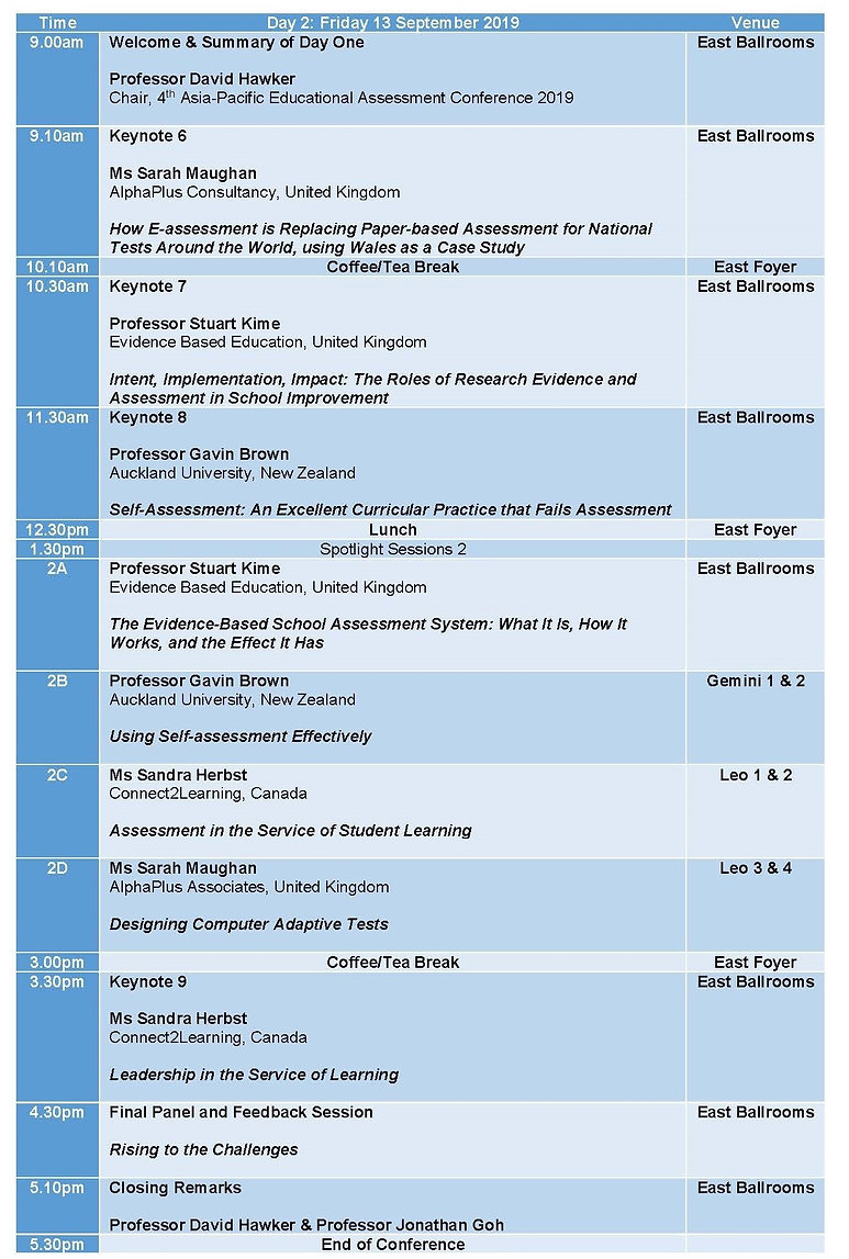 APEAC2019 - programme for website day 2.
