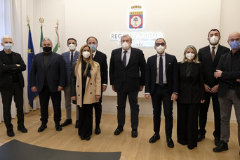 REGIONE - A Bari la prima riunione della Giunta regionale