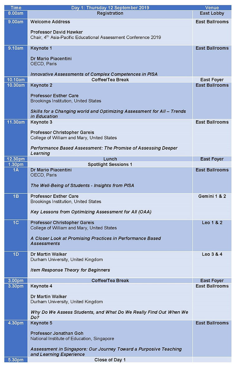 APEAC2019 - programme for website day 1.