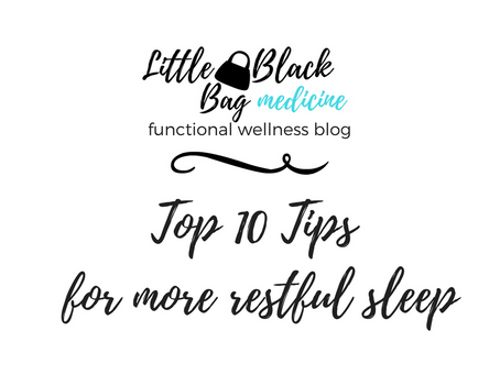 Top 10 tips for more restful sleep