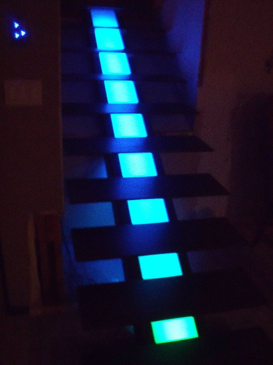 Color Mixing LED staircase