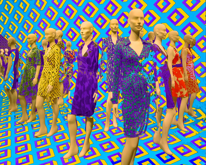 Mannequins with Blue