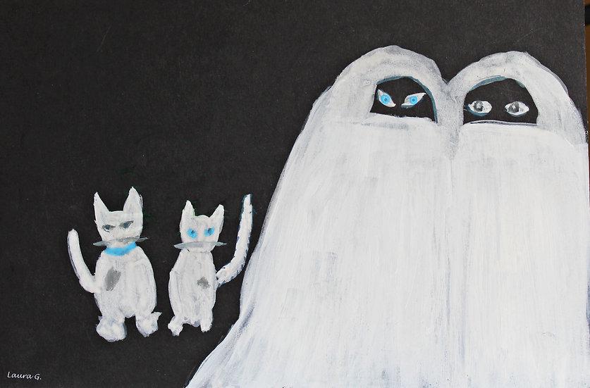 Quattro gatti bianchi