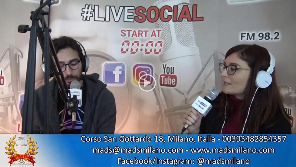 Interview with Giulia Zanesi @LIVESOCIAL Radio News 24